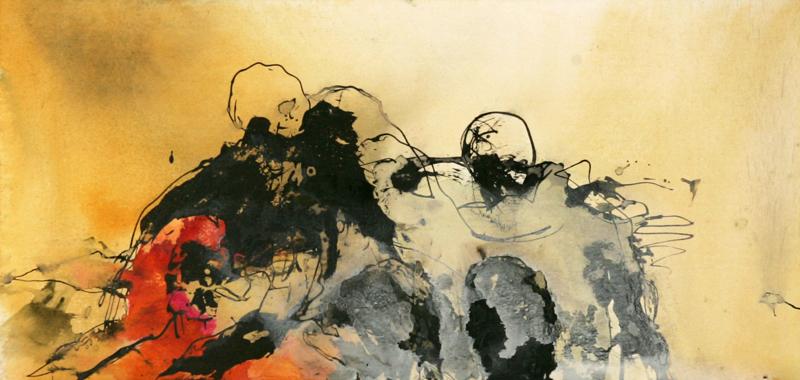 APART OF ME _ 2 figures (2007) 60 x 125 cm (24 x 49 inch)