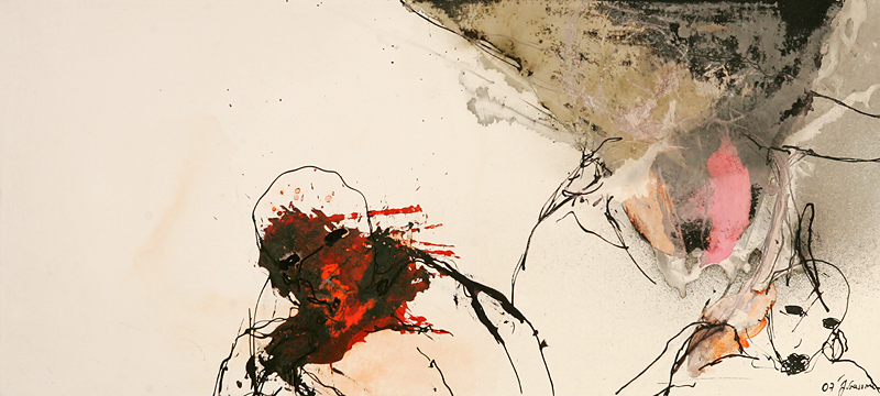 APART OF ME _ 2 figures influence, (2007) 55 x 120 cm (22 x 47 inch)