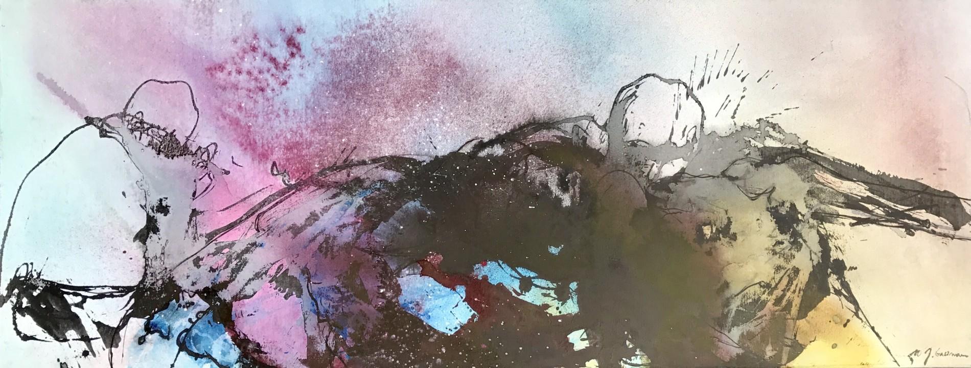 APART OF ME : figures colourfog, (2010)70 x 180 cm (28 x 71 inch)