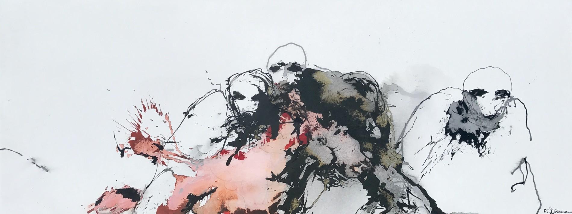 APART OF ME : figures expecting, (2002)70 x 180 cm (28 x 71 inch)