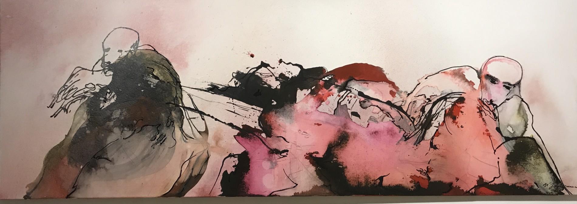 APART OF ME : figures hands, (2002) 70 x 200 cm (28 x 71 inch)