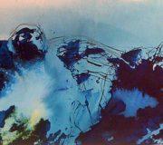 APART OF ME / figures in blue fog, (2010)
