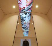Waigolshausen St Jakobus Glasdecke ca 2000 cm x 190 cm