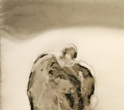 APART OF ME _ figure with bird part 2, (2008)205 x 100 cm (81 x 39 inch)