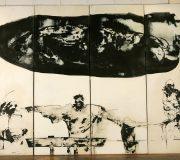Ostern, (1989) Tusche auf Leinwand., 270 x 400 cm (106 x 157 inch)