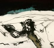 figure extended, (1990) 70 x 150 cm (28 x 59 inch)