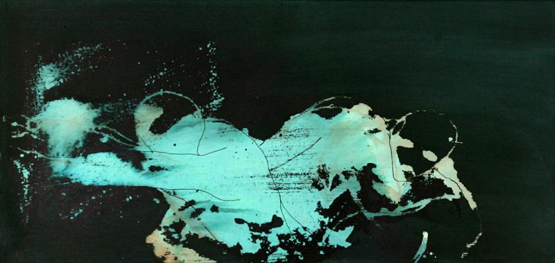 figures exploring, (2008) 60 x 125 cm (24 x 49 inch)